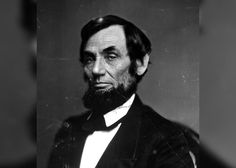Portrait of Abraham Lincoln as it originally appeared in B&W before it went through the colorization process.