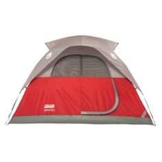 Coleman� Flatwoods 4 Person Tent - 9 FT X 7 FT (076501097467) Great for backpacking 4 Person - 9 Ft X 7FT Rainfly vents: release trapped heat to keep tent cool Offset door: place your airbed out of the walkway Storage pockets: keep gear organized