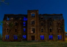 The Mary Allen Seminary administration building in Crockett, Texas. Built in 1886, closed and abandoned in 1978.