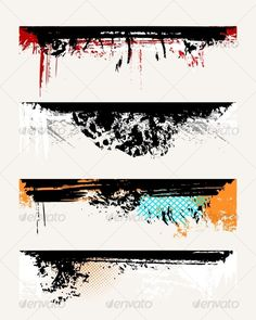 Buy Set of grunge edges by Designer_things on GraphicRiver. Set of grunge edges. Vector illustration in different color. Tattoo Band, Forearm Band Tattoos, Text Tattoo, Tattoo Bracelet, Hand Tattoos, Sleeve Tattoos, Tattoo Graphic, Tatoos, Trash Polka Tattoo