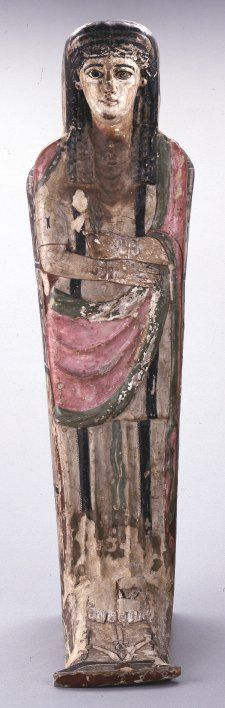 Coffin, wood, Upper Egypt, 50 BC-50, Greco-Roman.