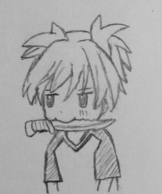 Little doodle of Nagisa from assassination classroom. I was just bored ;)