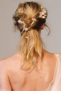 Add romantic whimsy with a ribbon woven throughout your 'do.