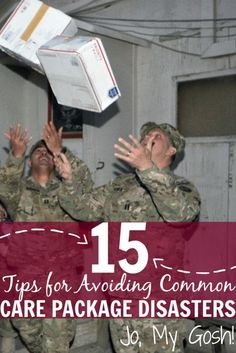 15 Tips for Avoiding Common Care Package Disasters - Easy mistakes to avoid (and some I hadn't thought of)! Avoid care package disasters, milspouse, d - Soldier Care Packages, Deployment Care Packages, Deployment Gifts, Military Deployment, Military Girlfriend, Army Mom, Military Spouse, Soldier Care Package Ideas, Deployed Boyfriend