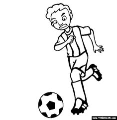 Soccer Coloring Page | Free Soccer Online Coloring