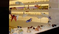 Origami incorporated into an #eyewear #merchandising display.