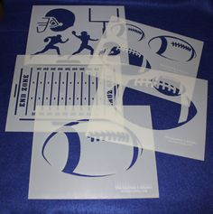 Football Stencils Mylar 5 Pieces of 14 Mil X - Painting /Crafts/ Templates Walmart Deals, Stencil Painting, Stencils, Football, Shapes, Templates, Quilts, Crafts, Discount Websites