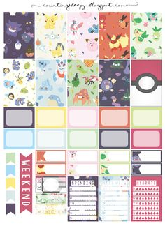 FREE Counting Sheepy: Free Planner Printables - Gotta Catch'em All! (Pokemon)