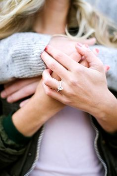 Ideas How To Show Off Your Gorgeous Engagement Rings ❤ See more: http://www.weddingforward.com/gorgeous-engagement-rings/ #weddings