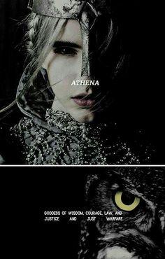 "Athena: ""I begin to sing of Pallas Athene, the glorious goddess, bright-eyed… Greek Gods And Goddesses, Greek And Roman Mythology, Goddess Names, Athena Goddess Of Wisdom, Moon Goddess, Les Religions, Archetypes, Mythical Creatures, Deities"