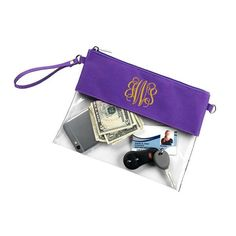 Personalized Purple Stadium Bag Clear Purse - Perfect for Game Day and approved by the stadium to tote your essentials. Stadium bag / clear bag / game day bag / tailgate tote / tailgate bag