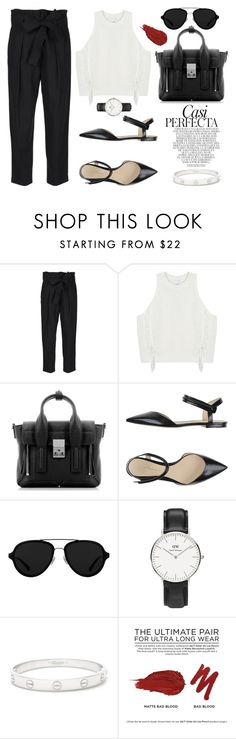 """""""New York City go Easy on me"""" by marissa-91 ❤ liked on Polyvore featuring 3.1 Phillip Lim, Whiteley, Daniel Wellington, Cartier and Urban Decay"""
