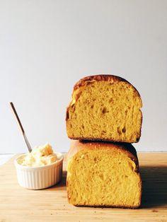 Sourdough Pumpkin Hokkaido Milk Bread with Salted Honey Maple Butter
