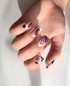 Nail Designs, Photo And Video, Abstract, Nails, Instagram, Summary, Finger Nails, Ongles, Nail Desings