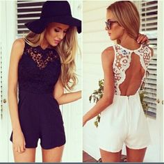 New Fashion Women's Novelty Tank slim sexy bodycon With Lace jumpsuit Lace Patchwork Sleeveless playsuit shorts coveralls