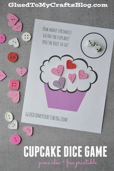 Cupcake Dice Game - Free Printable