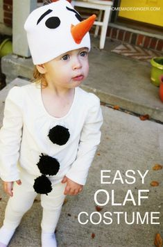 Diy frozen costumes pinterest scary halloween costumes and make this super easy olaf costume very little sewing required solutioingenieria Images