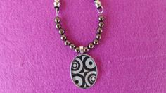 Oval silver by ArtisticBreaths, Washer Necklace, Pendant Necklace, Decoupage Paper, Circles, Necklaces, Trending Outfits, Unique Jewelry, Glass, Handmade Gifts