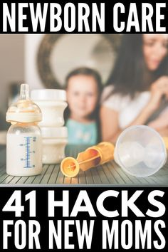41 Newborn Baby Care Tips for New Moms | If you're looking for awesome and helpful parenting hacks for new mothers, this collection of breastfeeding and bottle-feeding tips, baby essentials, and self-care ideas is sure to help. We've even included baby sleep tips to help get your baby to sleep through the night! Perfect for families of all shapes and sizes, these newborn tips and tricks are so helpful. #newborntips #newbornhacks #newmom #babyhacks Breastfeeding And Bottle Feeding, Breastfeeding Tips, Baby Feeding, Newborn First Week, Baby Toys, Newborn Baby Care, Baby Care Tips, Future Mom, Newborn Essentials