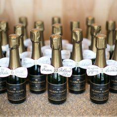 "BRIDES Magazine on Instagram: ""Table numbers that double as champagne wedding favors? Yes please!  #BridesRealWeddings #weddinginspo : @hsrphoto | favors: @mummnapa"""