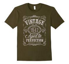 75th Birthday gift shirt Vintage dude 1942 75 year old shirt