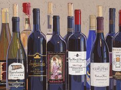Make Mine Virginia Wine Number One Painting  - Make Mine Virginia Wine Number One Fine Art Print