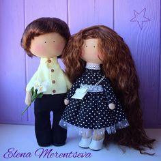 Купить Интерьерные куколки - кукла ручной работы, кукла, подарок на свадьбу, подарок молодоженам