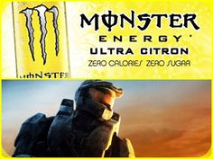 Ultra Monster/Halo Set-Up #3 [Yellow]: Ultra Citron Monster Energy Drink & Halo 3. #collage #yellow #gamingfuel #xbox #xbox360 #halo #halo3 #spartan #masterchief #john117 #monsterenergy #ultracitron