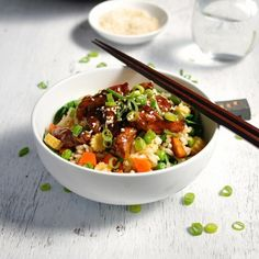 Sticky Chicken With Vegetable Fried Rice (Freezer Friendly) - RecipeTin Eats