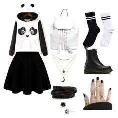 """""""Panda Pet"""" by madisonpearl on Polyvore featuring Rebecca Minkoff, Pieces, Dr. Martens, Charlotte Russe and Tacori"""