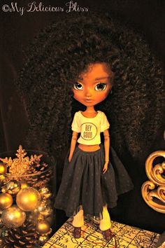 Delicious Bliss: Tyler, Beautiful Brown Pullip Art Doll for Adoption