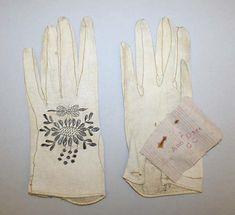 Gloves (at the Metropolitan Museum of Art) ca. 1780, British Medium: leather, metal thread Gift of Miss Irene Lewisohn, 1940 Accession Number: C.I.40.142.2a, b