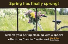 It's that time of the year! Book your Spring Window Cleaning with this amazing offer ,brought to you by yours truly! Year Book, Window Cleaner, Time Of The Year, Spring Cleaning, Bring It On, Real Estate, Windows, Amazing, Flowers