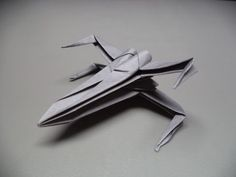 How to Fold an Origami Star Wars X-wing Starfighter: 13 Steps (with Pictures)