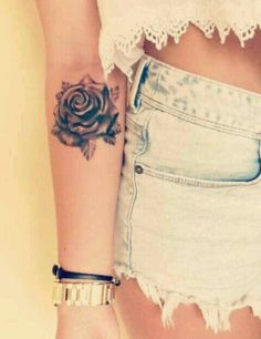 Rose tattoo, I want something like this on my wrist