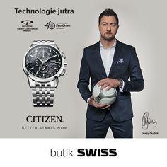 Jerzy Dudek w nowym zegarku zasilanym światłem i sterowanym radiowo: CITIZEN Eco-Drive Radio Controlled (nr ref. 210 826)  Zapraszamy do butiku SWISS
