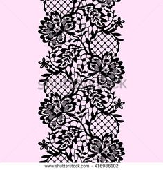 Find Lace Seamless Pattern stock images in HD and millions of other royalty-free stock photos, illustrations and vectors in the Shutterstock collection. Tattoo T, Lace Tattoo, Lace Patterns, Embroidery Patterns, Tattoo Pierna, Tattoo Filler, Lace Drawing, Decoupage Vintage, Parchment Craft