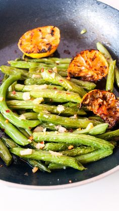 Always Hungry: Pan Roasted Lemon Garlic Green Beans
