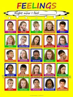 Feelings chart... I really like that it has real kids.