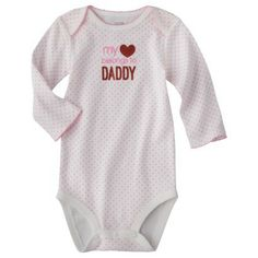 Just One You™Made by Carter's® Newborn Girls' My Heart Belongs to Daddy Bodysuit - White