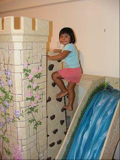 Rapunzel wall.  Little girl room ideas
