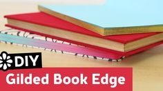 DIY Gilded Book Edge | Sea Lemon | How to add fancy metallic edges to your notebook, notepad, sketchbook, planner or journal! #bookbinding #backtoschool #gilding #gold