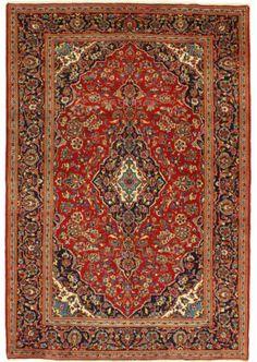 Een prachtig handgeknoopt Keshan tapijt uit Iran.