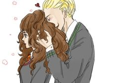 Hermione Granger & Draco Malfoy. Dramione, because there is a thin line between love and hate