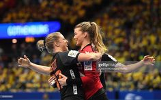 Netherlands' goalkeeper Tess Wester celebrates with her teammates after scoring a goal during the Women's European Handball Championship Group I match between Sweden and Netherlands in Gothenburg, Sweden on December / AFP / JONATHAN Goalkeeper, Stock Pictures, Royalty Free Photos, Gothenburg Sweden, Goals, Female, Celebrities, Recovery, Sports