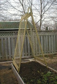 So many of our plants need to be trellised right now. Need to come up with some quick and easy designs to build.