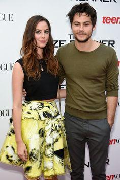 Kaya Scodelario (Teresa) and Dylan O'Brien (Thomas)