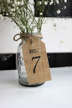 Burlap Number Tags Rustic Country Woodland Table Numbers Wedding Centerpieces | eBay