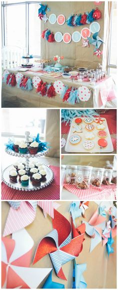 {Love this red & aqua shower} + great tips for planning a baby shower the mom to be will love!