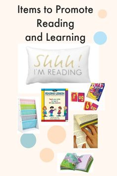 I highly suggest these great items that help your child read and learn. They bring entertainment to the family as they help reading skills and promote reading!